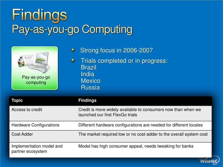 Pay-as-you-go computing