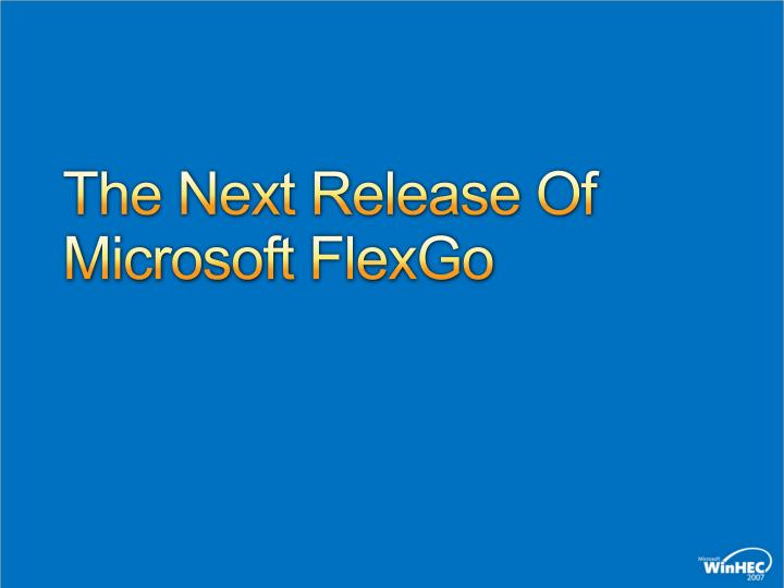 The Next Release Of Microsoft