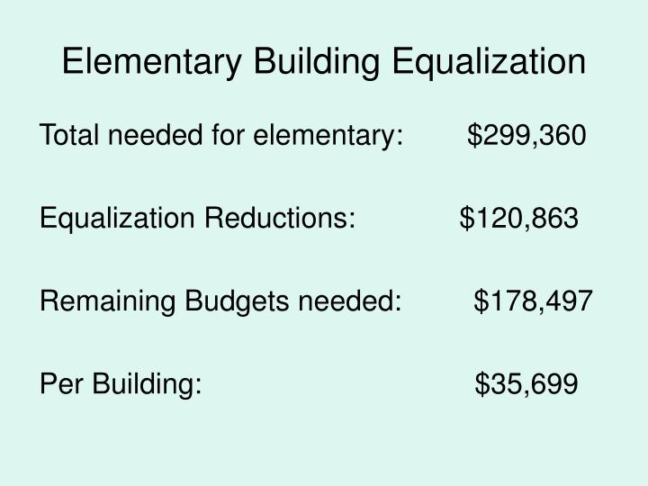 Elementary Building Equalization