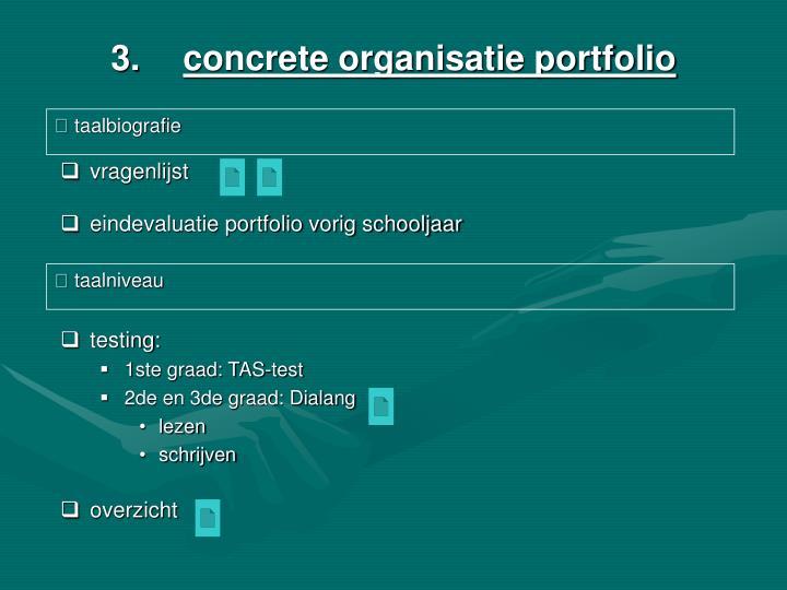 concrete organisatie portfolio
