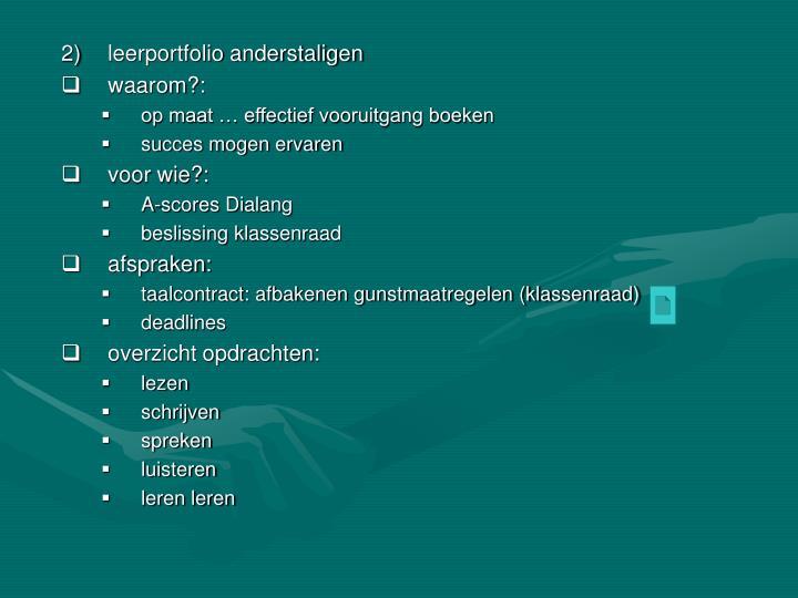 leerportfolio anderstaligen