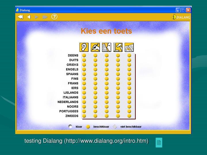 testing Dialang (
