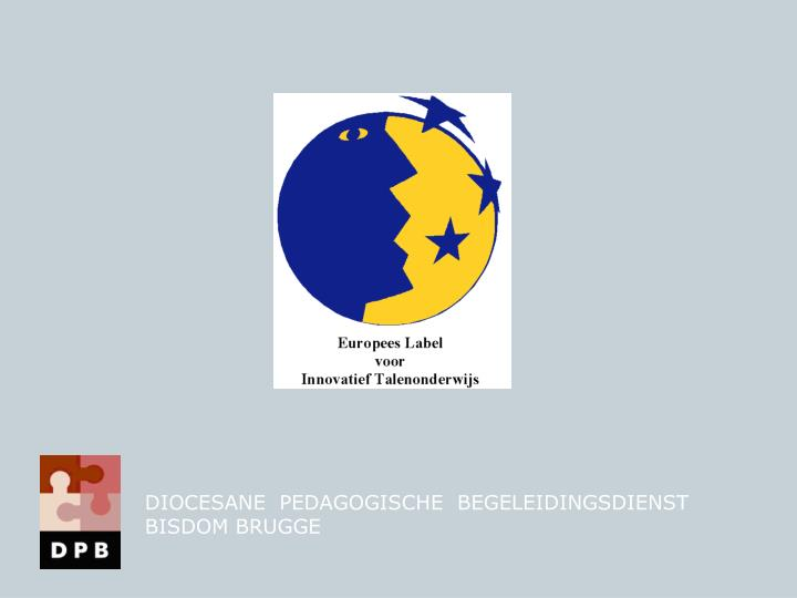 DIOCESANE  PEDAGOGISCHE  BEGELEIDINGSDIENST    BISDOM BRUGGE