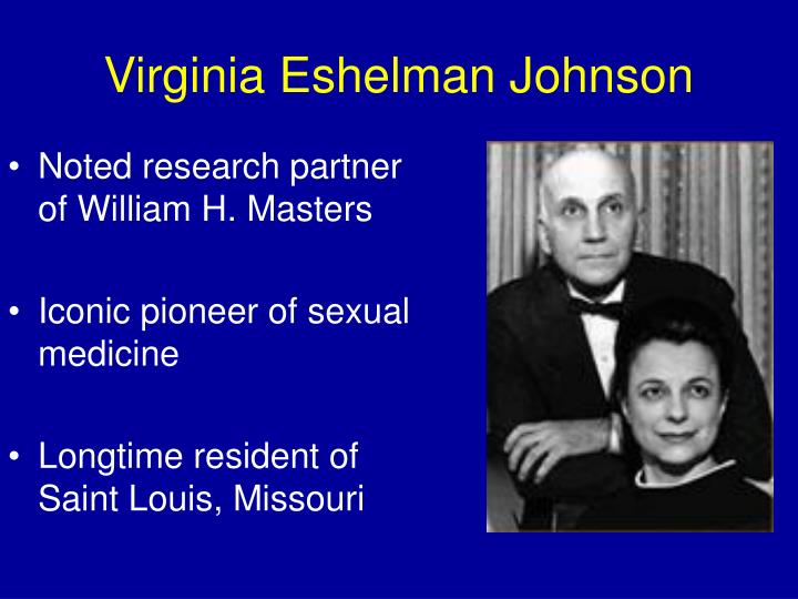 Johnson e johnson sex studies