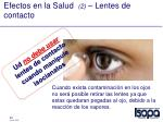 efectos en la salud 2 lentes de contacto