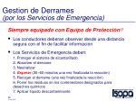 gestion de derrames por los servicios de emergencia