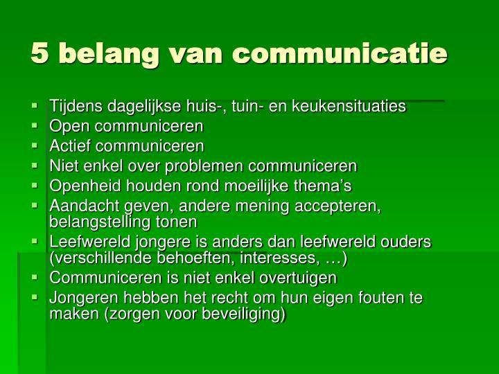 5 belang van communicatie