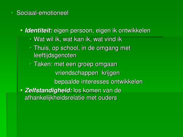 Sociaal-emotioneel