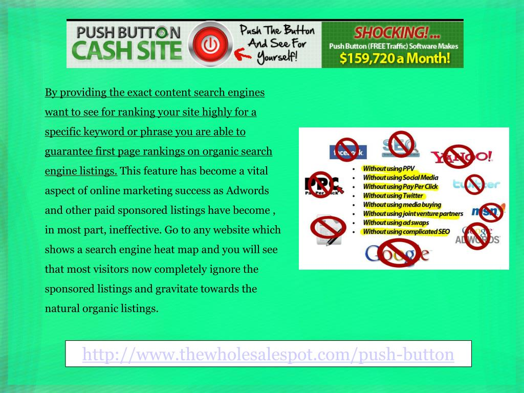 By providing the exact content search engines want to see for ranking your site highly for a specific keyword or phrase you are able to guarantee first page rankings on organic search engine listings.