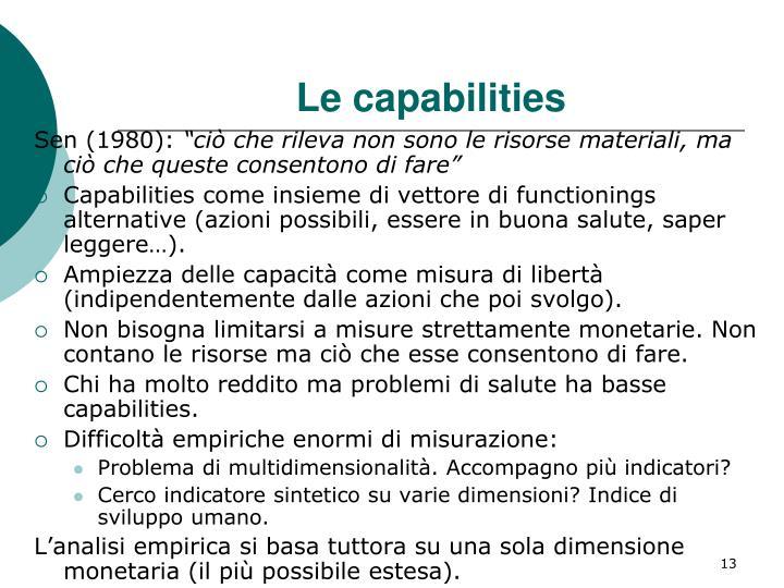 Le capabilities