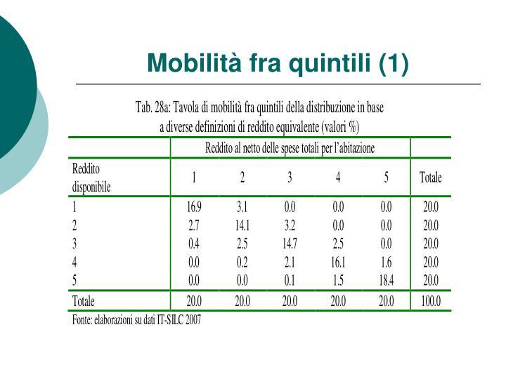 Mobilità fra quintili (1)