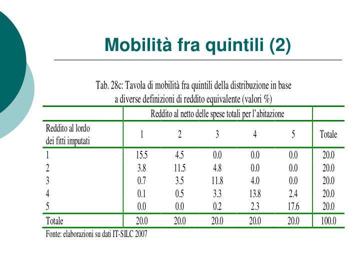 Mobilità fra quintili (2)
