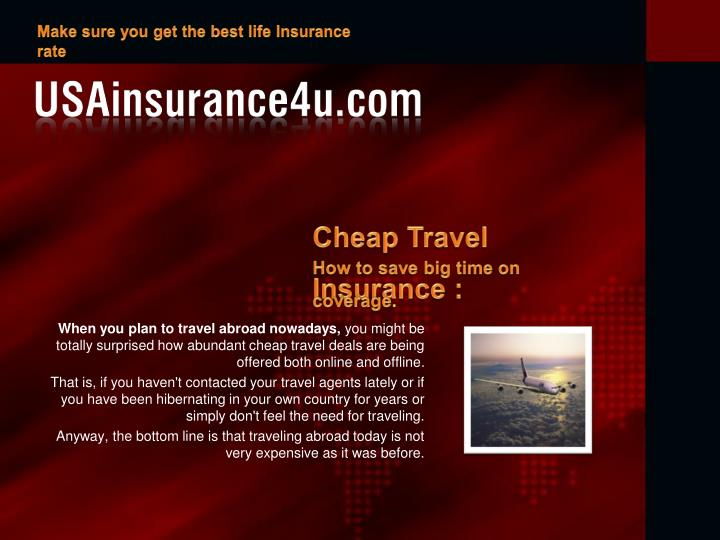 Make sure you get the best life Insurance rate