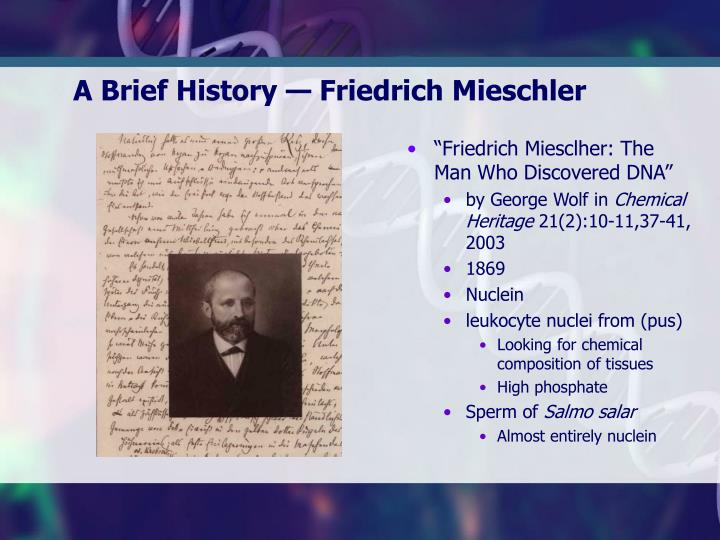 """Friedrich Miesclher: The Man Who Discovered DNA"""