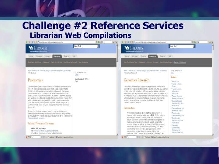 Challenge #2 Reference Services