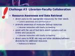 challenge 3 librarian faculty collaboration