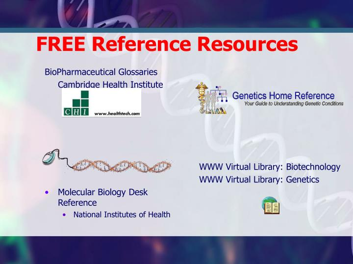 FREE Reference Resources