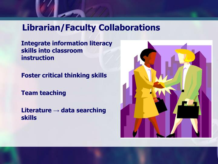 Integrate information literacy skills into classroom instruction