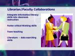 librarian faculty collaborations
