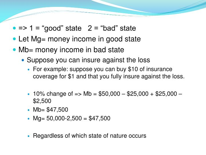 "=> 1 = ""good"" state   2 = ""bad"" state"
