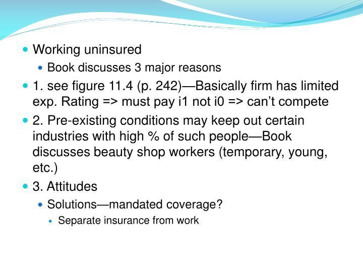 Working uninsured