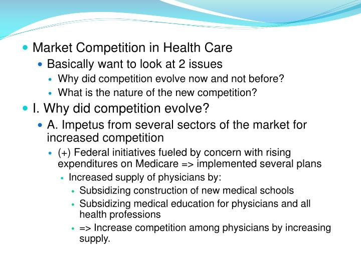 Market Competition in Health Care