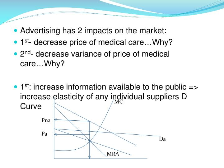 Advertising has 2 impacts on the market: