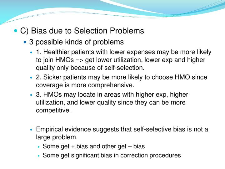 C) Bias due to Selection Problems