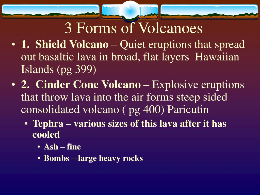 3 Forms of Volcanoes