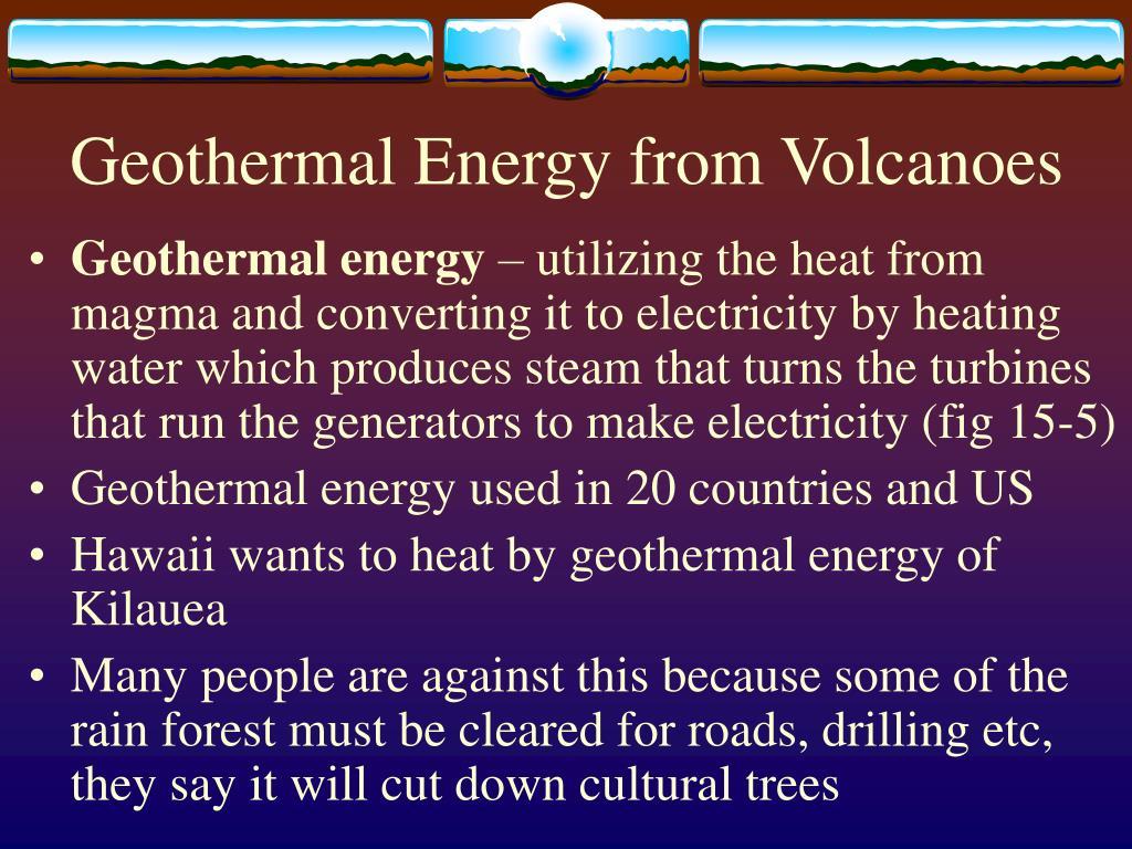 Geothermal Energy from Volcanoes