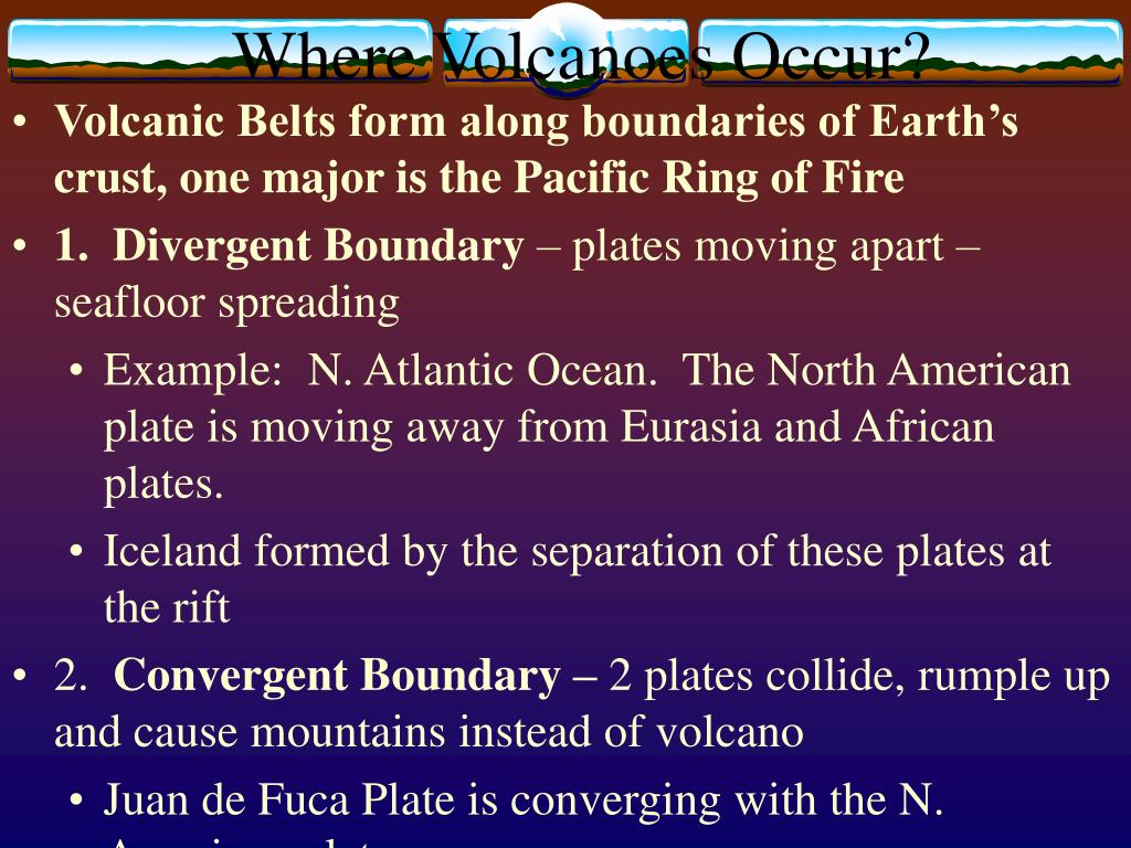 Where Volcanoes Occur?