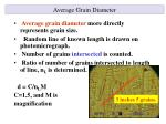 average grain diameter