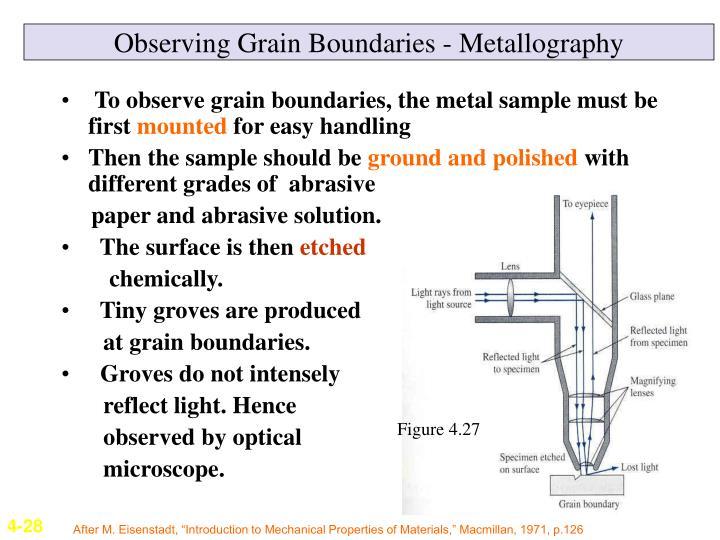 Observing Grain Boundaries - Metallography