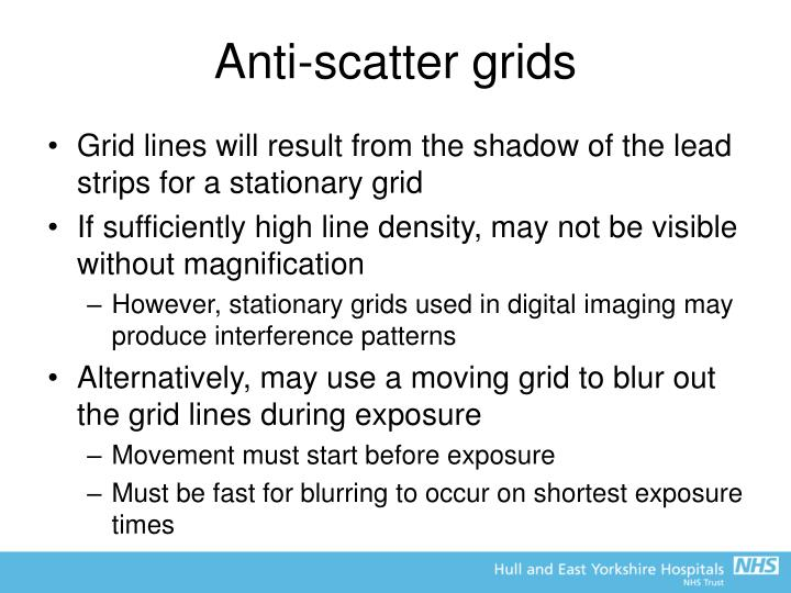 Anti-scatter grids