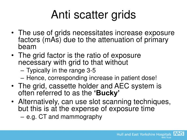 Anti scatter grids