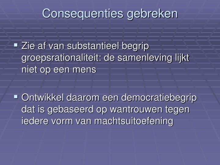 Consequenties gebreken
