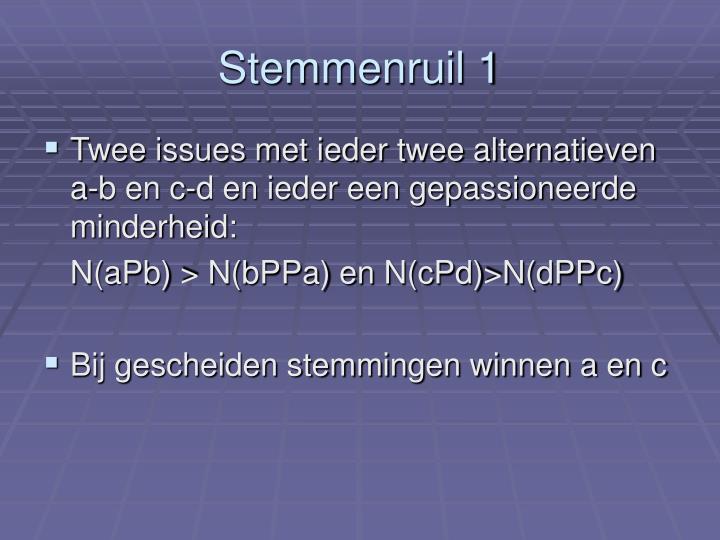 Stemmenruil 1