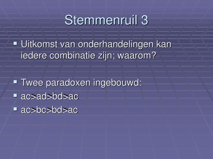 Stemmenruil 3