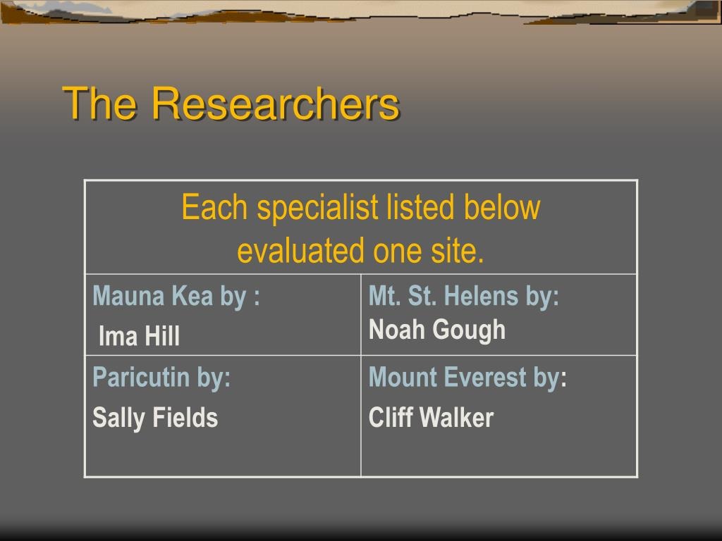 The Researchers