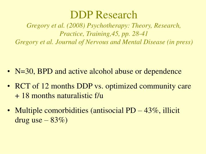 DDP Research
