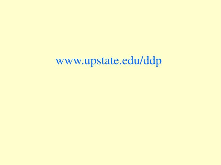 www.upstate.edu/ddp