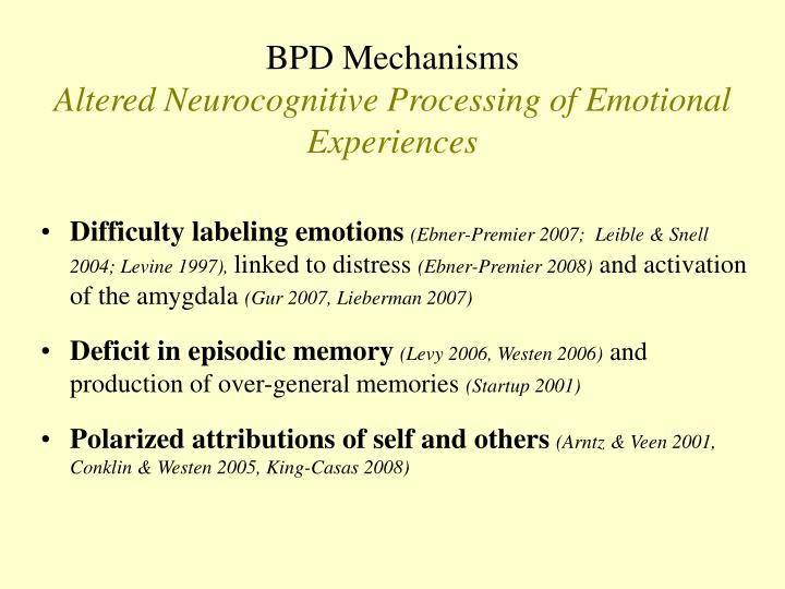 BPD Mechanisms