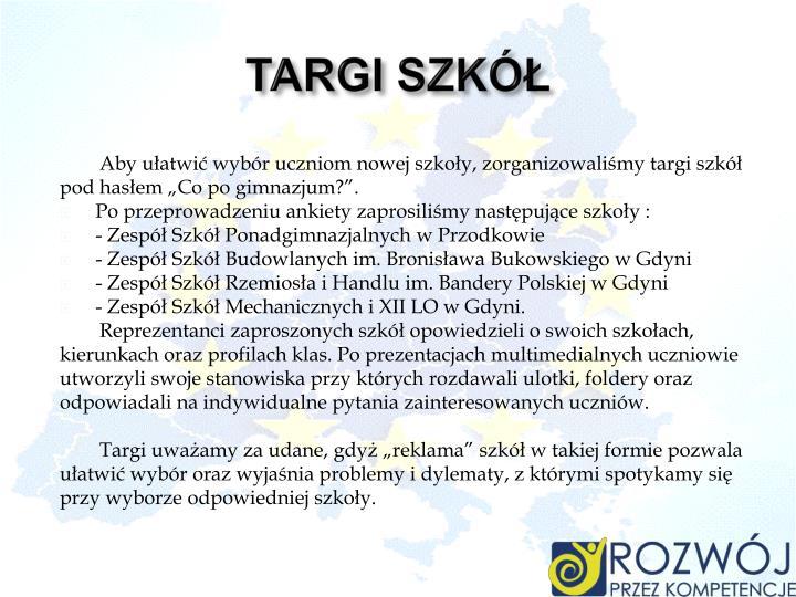 TARGI SZKÓŁ
