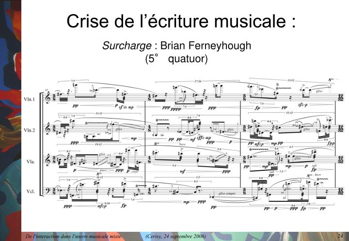 Crise de l'écriture musicale :