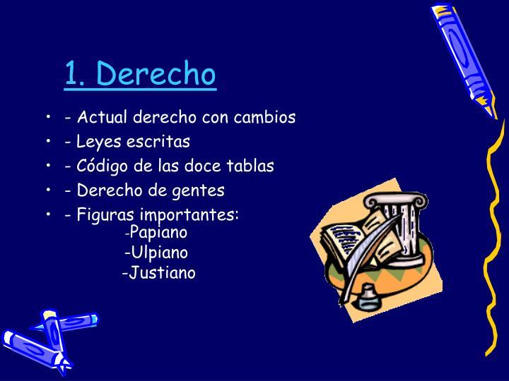 1. Derecho