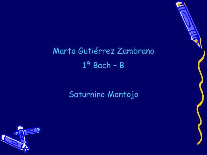 Marta Gutiérrez Zambrano