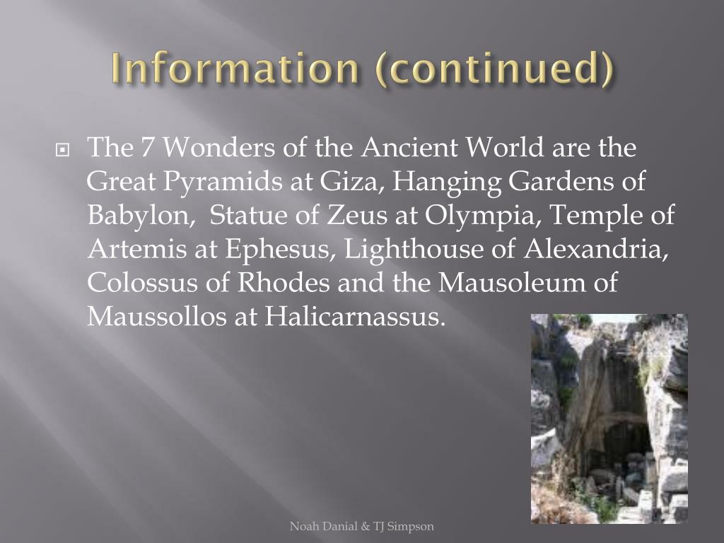 Information (continued)