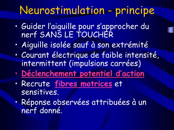 Neurostimulation - principe
