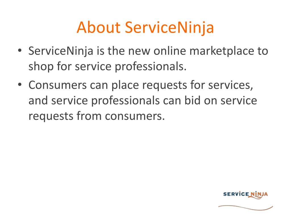 About ServiceNinja