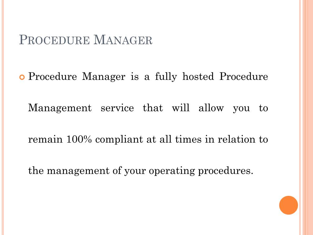 Procedure Manager